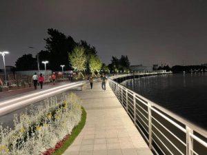 上海苏州河滨河空间嘉定段景观亮化工程全面竣工