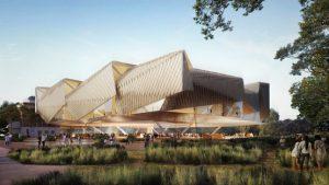 """迪勒·斯科菲多·伦弗罗和伍兹·巴戈特设计""""玻璃博物馆"""""""