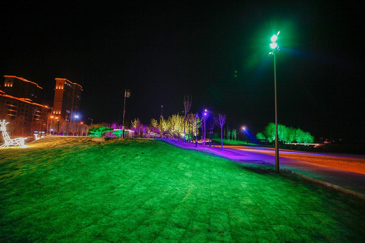 两岸灯光,汤和夜景,sunbet手机客户端下载工程