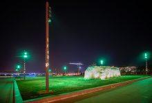 安阳市高新区礼湖标段夜景实拍一(2021.10月12日)